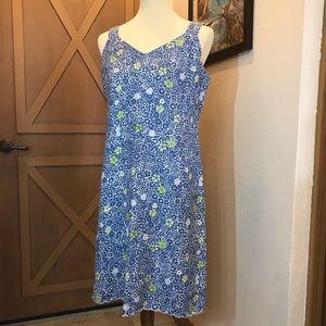 SO Blue Sigrid Olsen linen sheath dress Sz 8